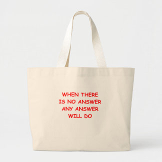 ANSWER CANVAS BAG