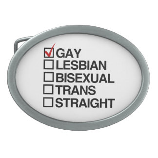 ANSWER GAY BELT BUCKLE