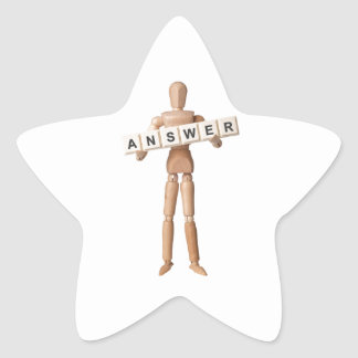 Answer Star Sticker
