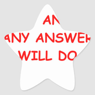 ANSWER STAR STICKER