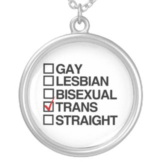 ANSWER TRANSEXUAL SILVER PLATED NECKLACE