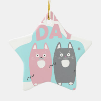 Answer Your Cat's Questions Day Ceramic Ornament