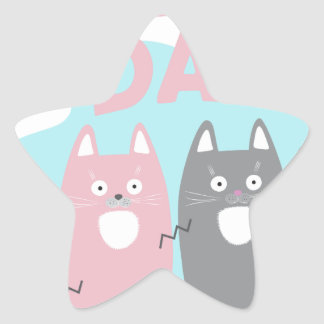 Answer Your Cat's Questions Day Star Sticker