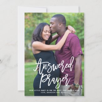 Answered Prayer Lettering Pregnancy Announcement I