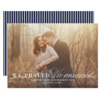 Answered Prayer Pregnancy Announcement Photo Card
