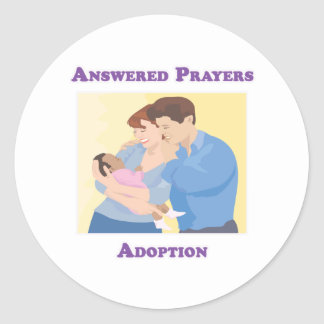 Answered Prayers Adoption Classic Round Sticker