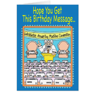ANSWERING MACHINES Birthday Card