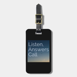 Answers Call Luggage Tag