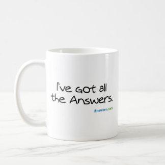 Answers.com Classic White Coffee Mug