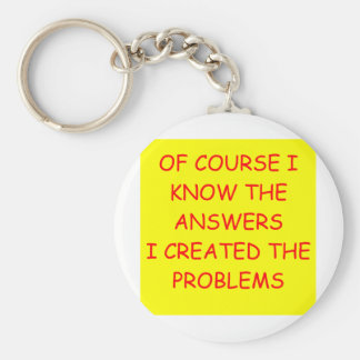 ANSWERS BASIC ROUND BUTTON KEYCHAIN
