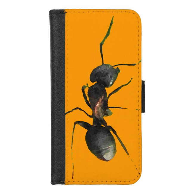 Ant Abstract Orange iPhone 8/7 Wallet Case
