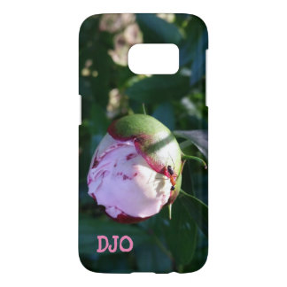 Ant and Shadow on Pink Flower Bud Samsung Galaxy S7 Case