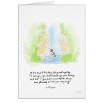 Ant Bath greeting card