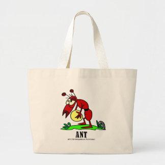 Ant by Italian Artist Lorenzo Traverso Large Tote Bag