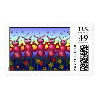 ant dance postage stamps