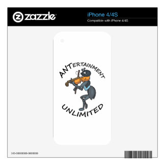 ANT Entertainment Unlimited, playing Fiddle Decals For The iPhone 4S