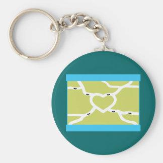 Ant Farm Love Basic Round Button Keychain