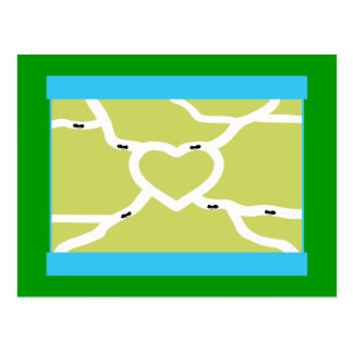 Ant Farm Love Postcard