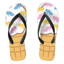 Ant Ice Cream Flip Flops