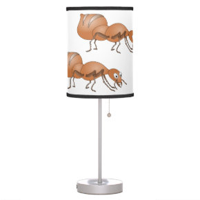 Ant in green grass lamp