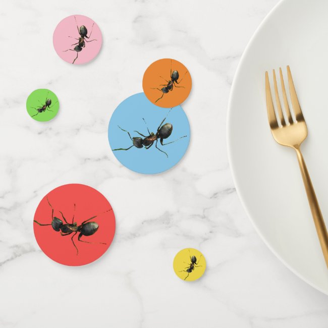 Ant Insect in Rainbow Colors Table Confetti