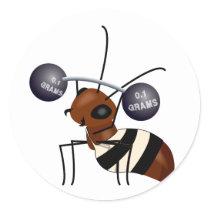 Ant lifting classic round sticker