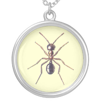 Ant Round Pendant Necklace