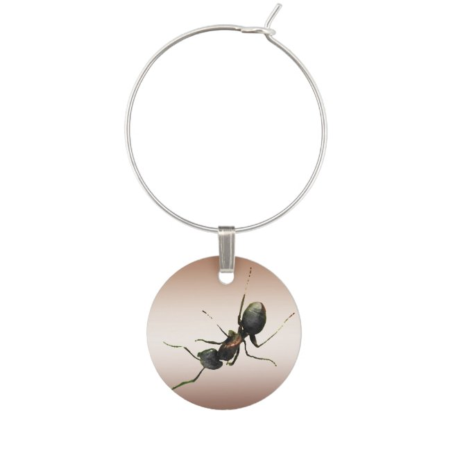 Ant on Bronze Wine Charm