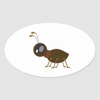 ant oval sticker