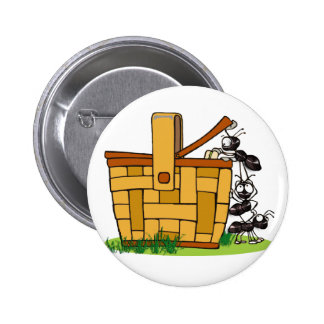 Ant Picnic Basket Pinback Buttons