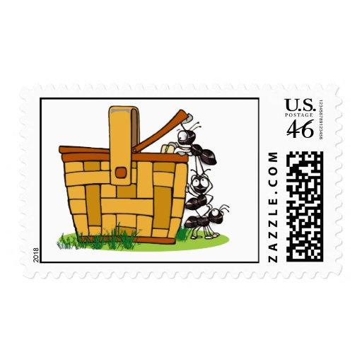 Ant Picnic Basket Stamps