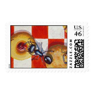 Ant Picnic Postage Stamp