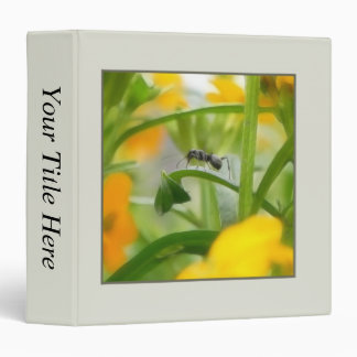 Ant Portrait With Siberian Wallflowers 3 Ring Binder
