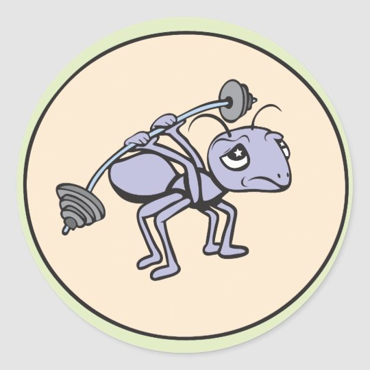 Ant Power!  Customizable! Classic Round Sticker