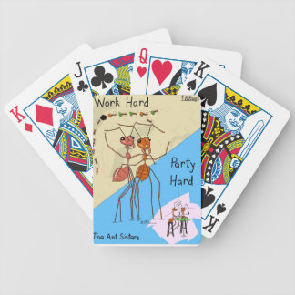 Ant Sisters Work Hard Party Hard Bicycle Playing Cards