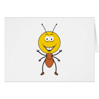Ant Smiley Face Card