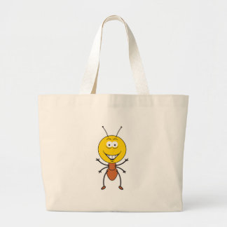 Ant Smiley Face Large Tote Bag