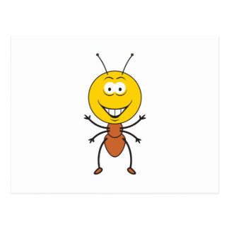 Ant Smiley Face Post Card