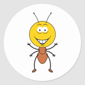 Ant Smiley Face Stickers