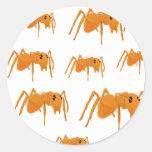 Ant stickers etiqueta redonda