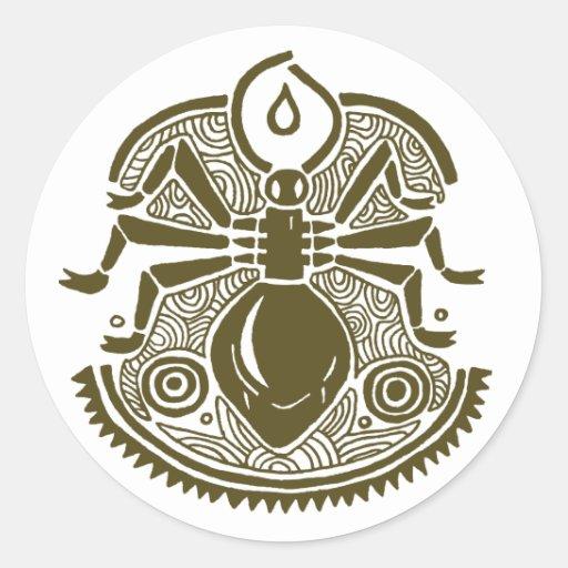 Ant Totem Classic Round Sticker