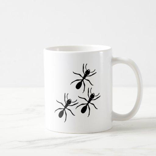 ant trail classic white coffee mug