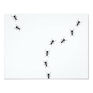 ant trail icon 4.25x5.5 paper invitation card