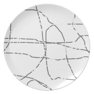 Ant Trails Party Plate
