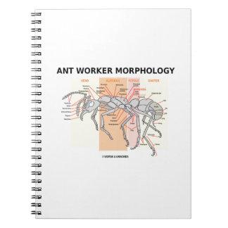 Ant Worker Morphology (Worker Ant Entomology) Spiral Notebook
