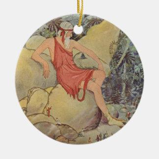 Antaeus and the Pygmies Ceramic Ornament