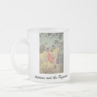 Antaeus and the Pygmies Frosted Glass Coffee Mug