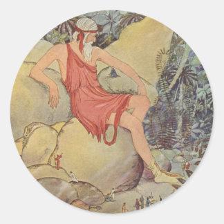 Antaeus y los pigmeos pegatina redonda