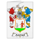 Antal Family Hungarian Coat of Arms Card