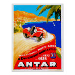 Antar Gas ~ Vintage Auto Road Race Ad Posters
